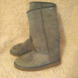 Sky blue Sheepskin Boots